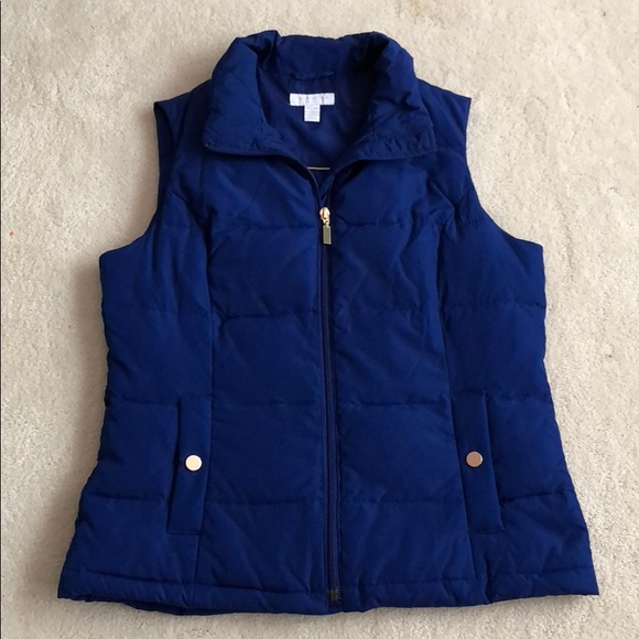 Charter Club Jackets & Blazers - Blue Quilted Vest